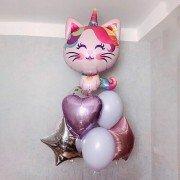 """Комплект шаров """"Котенок и звезды"""""""