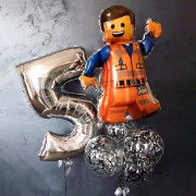 "Композиция из шаров ""Лего Happy Birthday"""