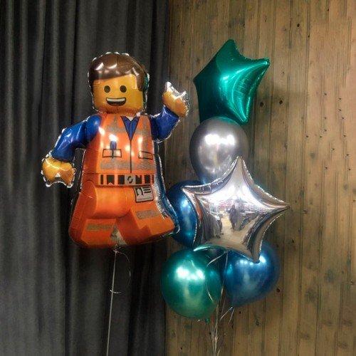 Набор из воздушных шариков в стиле Конструктор Лего