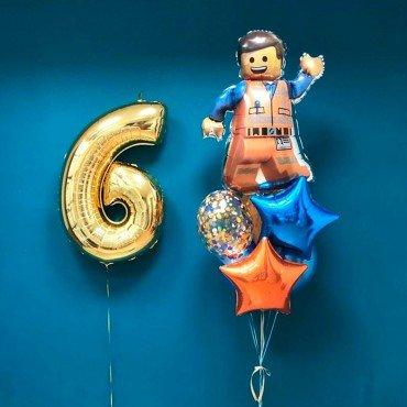 Набор воздушных шариков на 6 лет с Лего