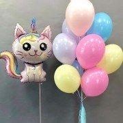 """Набор воздушных шаров """"Радужный котенок единорог"""""""