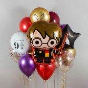 """Композиция из воздушных шаров """"Гарри Поттер и время"""""""