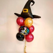 """Композиция воздушных шаров из коллекции Гарри Поттер """"Ведьмин колпак"""""""