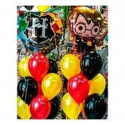 """Композиция из воздушных шаров """"Гарри Поттер и школа Хогвартс"""""""