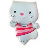 Воздушный шар фигура Котёнок белый