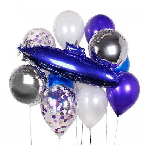 Фонтан шаров для мужчины с подводной лодкой