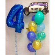 """Комплект шаров из коллекции машинки """"Полиция"""""""