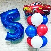 Комплект шаров на 5-летие с машинкой