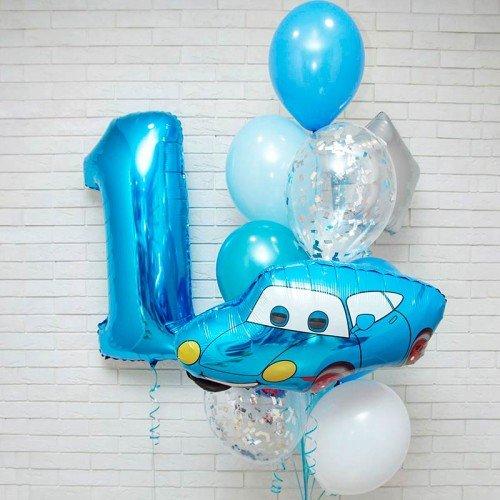 набор шариков на первый день рождения мальчика
