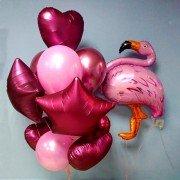 """Комплект шаров """"Влюбленный фламинго"""""""