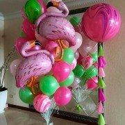 "Набор шаров ""Влюбленная парочка фламинго"""