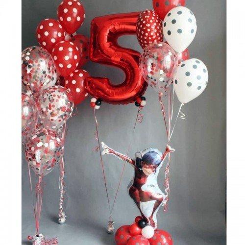 Оформление шарами Леди Баг на 5 лет