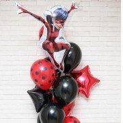 """Оформление воздушными шариками """"Леди Баг на празднике"""""""