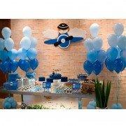 Праздничный комплект шаров в нежных голубых оттенках