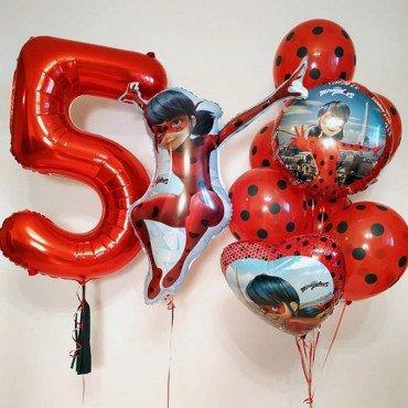 Шарики с изображением Леди баг на 5 лет