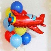 """Облако шаров """"Красный самолет"""""""