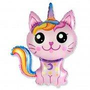 Воздушный шар Сказочный Котёнок- Единорог