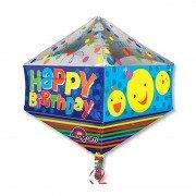 """Фигурный шар 3D """"Happy Birthday Смайлики"""""""