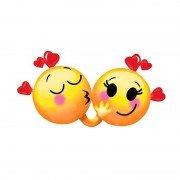 """Фигурный шар """"Поцелуй влюбленных"""" Смайлики"""