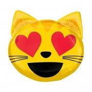 """Фигурный шар """"Влюбленная кошка"""" Смайлики"""