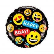 """Шар Смайлик """"Happy Birthday Эмоции улыбок"""""""
