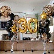 Комплект шаров золотой на 30-летие