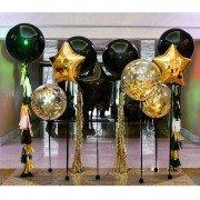 """Композиция из воздушных шаров """"Черное золото"""""""