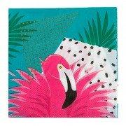 Салфетка Фламинго тропики 25 см 12 шт