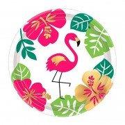 Тарелка Aloha Фламинго 17 см 8 шт