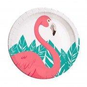 Тарелка Фламинго 23 см 8 шт