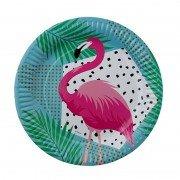 Тарелка Фламинго тропики 17 см 6 шт