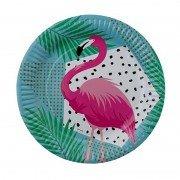 Тарелка Фламинго тропики 23 см 6 шт