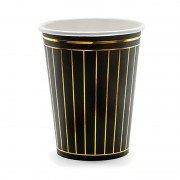 """Стакан из коллекции """"Black&Gold"""" Линии 260 мл 6 шт"""