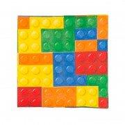 Салфетка Конструктор Лего 25 см 12 шт