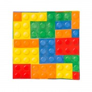 Салфетка Конструктор Лего 33 см 12 шт