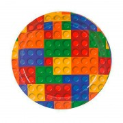 Тарелка Конструктор Лего 17 см 6 шт