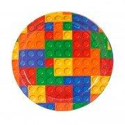 Тарелка Конструктор Лего 23 см 6 шт