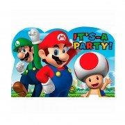 Приглашение Супер Марио 8 шт