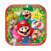 Тарелка Супер Марио квадратная 17 см 8 шт