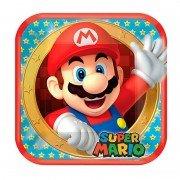 Тарелка Супер Марио квадратная 23 см 8 шт