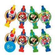 Язык-гудок с картинками Супер Марио 8 шт