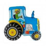 "Шар Фигура ""Синий трактор"""
