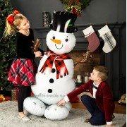 Шар новогодний снеговик