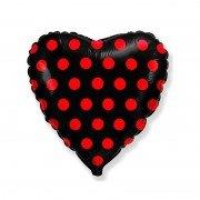 """Шар сердце """"Красный горошек"""" из коллекции Леди Баг"""