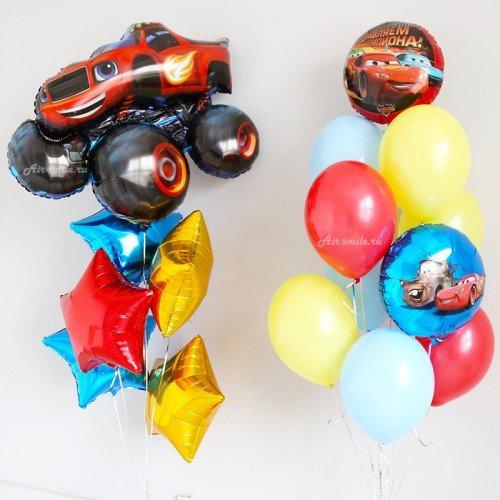 Букеты из воздушных шариков Вспыш и Тачки