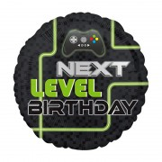"Шар круглый ""Happy Birthday Next Level"""
