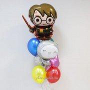 """Композиция из воздушных шаров """"Гарри Поттер и сова"""""""