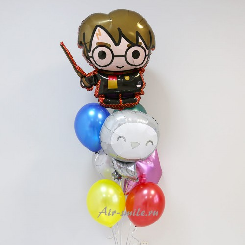 Фонтан из шаров Гарри Поттер и Сова