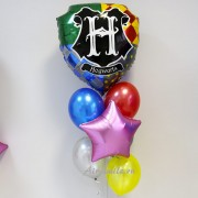 """Композиция из воздушных шаров """"Щит Гарри Поттера"""""""