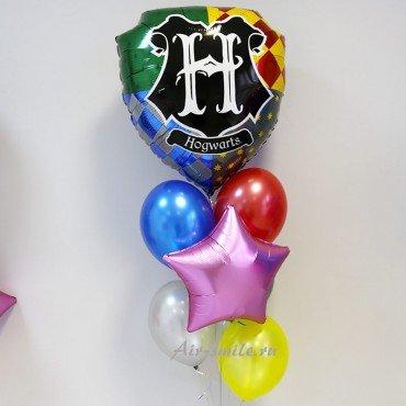 Композиция из шаров щит Гарри Поттера